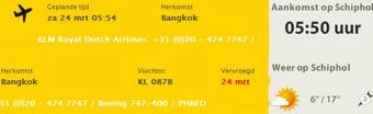 Bangkok Schiphol