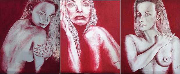 Lady in Red drieluik