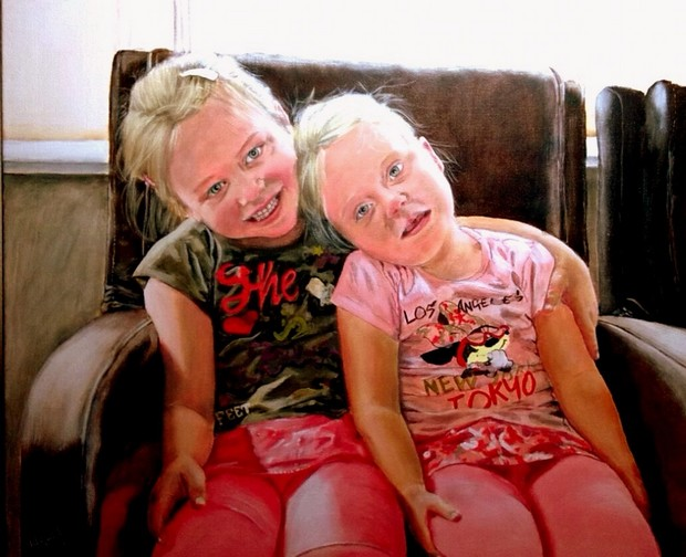 Blije zusjes