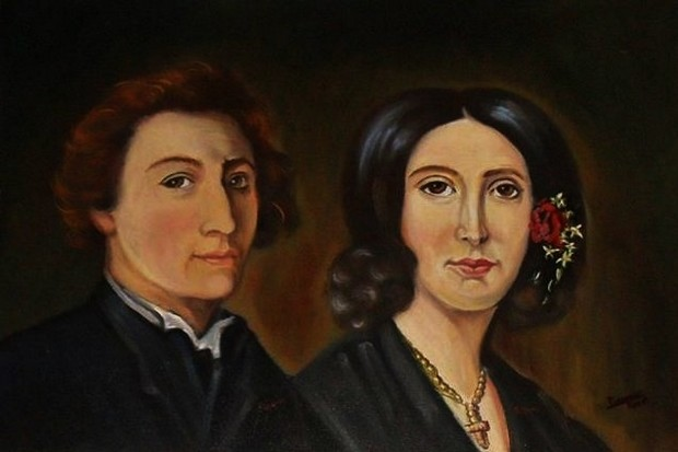 Frédéric Chopin met George Sand