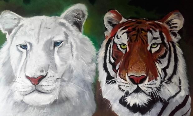 Leeuw en tijger
